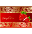 background with strawberry fruits vector image