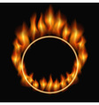 burning ring vector image