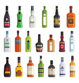 liqueur whiskey vodka and other bottles of vector image