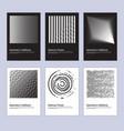 modern abstract halftone poster design set vector image