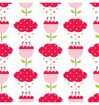 seamless pattern with cute abstract flowers and vector image