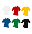 T-shirt templates vector image