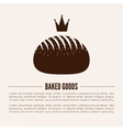 Bakery logotype Bakery or bred shop vintage vector image