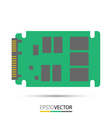 SATA solid state drive SSD vector image