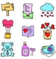 Collection stock of object love doodles vector image