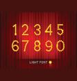 light font4 vector image