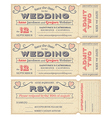 Wedding Invite Tickets vector image