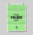 Four times folded poster vector image vector image