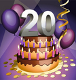 twentieth birthday vector image