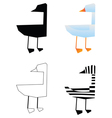 duck bird silhouette vector image