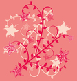 floral pink design vector image vector image