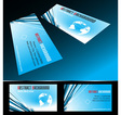 four business card set vector image vector image