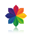 Abstract colorful flower logo template design vector image