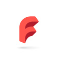 Letter F logo icon design template elements vector image
