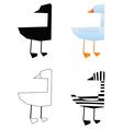 duck bird silhouette vector image