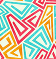 funky maze seamless pattern vector image