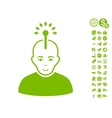 Optical Neural Interface Icon With Free Bonus vector image