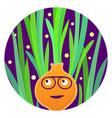 reggae veggie funny carrot character vector image