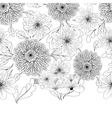 Seamless pattern with dahlia flowers vector image