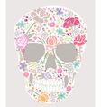 Skull from flowers vector image