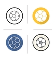 Soccer ball icons vector image