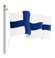 waving finland flag isolated on a white background vector image