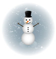 Snowman alone in winter vector image