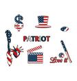 US symbols in the patriotic colors vector image