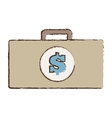 suitcase money business accessory vector image