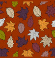 leaves seamless fall 6 vector image