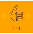 like sign in outline style vector image vector image