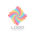 Colorful Bright Rainbow Spiral Logo vector image
