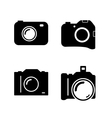 Set of four icons with camera vector image