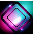 square abstract glowing background vector image