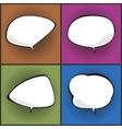 Set of Speech Bubbles on Pop Art Background vector image