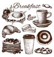 breakfast food vector image