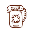 Hand Drawn Telephone vector image
