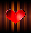 Heart on the burning net vector image
