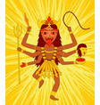kali on yellow background vector image