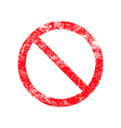 not allowed sign red grunge rubber stamp vector image