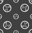 pulse Icon sign Seamless pattern on a gray vector image