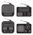 Retro radio receivers vector image