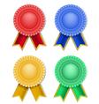 ribbons badge vector image