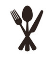 spoon fork and knife sign vector image