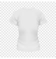 White female tshirt mockup realistic style vector image