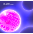 pink planet futuristic vector image