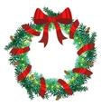 Christmas wreath of fir twigs vector image vector image