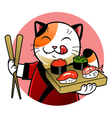 Sushi chief cat vector image