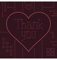 Thank You Techno Line Art Bakcground vector image