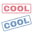 cool textile stamps vector image